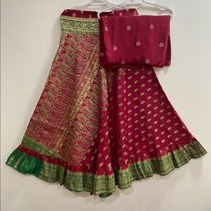 Jamawaram Silk Ethnic Lehenga/Skirt